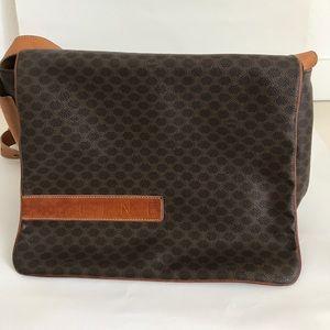 Celine leather messenger bag